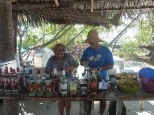 Fresh fruit cocktails by the beach. Bar do Galo, Maracaípe Beach