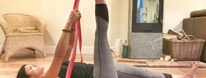 Supta Padangusthasana Climb & Yoga