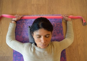 Savasana 2 with belt